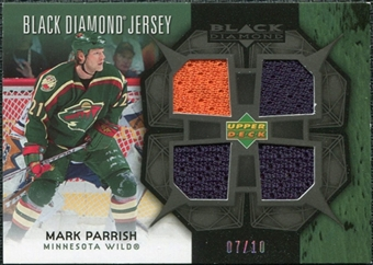 2007/08 Upper Deck Black Diamond Jerseys Black Quad #BDJMP Mark Parrish /10