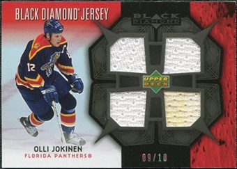 2007/08 Upper Deck Black Diamond Jerseys Black Quad #BDJOJ Olli Jokinen /10