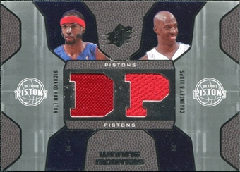2007/08 Upper Deck SPx Winning Materials Combos #HB Richard Hamilton Chauncey Billups