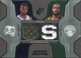 2007/08 Upper Deck SPx Winning Materials Combos #LW Rashard Lewis Chris Wilcox