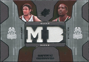 2007/08 Upper Deck SPx Winning Materials Combos #RB Andrew Bogut Michael Redd