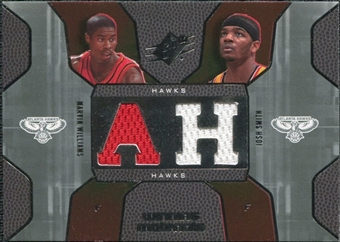 2007/08 Upper Deck SPx Winning Materials Combos #SW Marvin Williams Josh Smith