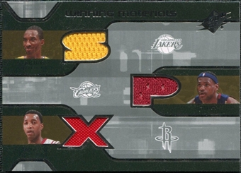 2007/08 Upper Deck SPx Winning Materials Triples #BMJ Kobe Bryant LeBron James Tracy McGrady