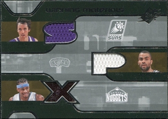2007/08 Upper Deck SPx Winning Materials Triples #NIP Steve Nash Tony Parker Allen Iverson