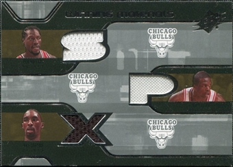 2007/08 Upper Deck SPx Winning Materials Triples #TNH Dirk Nowitzki Josh Howard Jason Terry