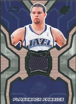 2007/08 Upper Deck SPx Flashback Fabrics #DW Deron Williams