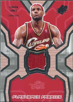 2007/08 Upper Deck SPx Flashback Fabrics #LJ LeBron James