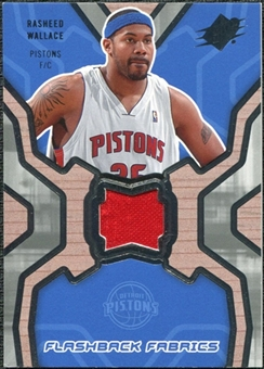 2007/08 Upper Deck SPx Flashback Fabrics #RW Rasheed Wallace