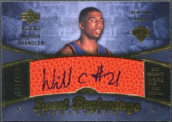 2007/08 Upper Deck Sweet Shot #105 Wilson Chandler RC Autograph /699