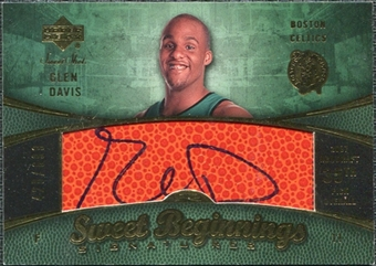 2007/08 Upper Deck Sweet Shot #131 Glen Davis RC Autograph /699