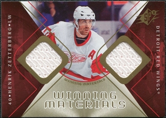 2007/08 Upper Deck SPx Winning Materials #WMHZ Henrik Zetterberg