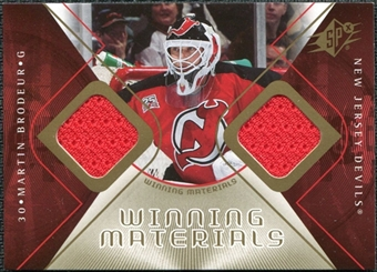 2007/08 Upper Deck SPx Winning Materials #WMMB Martin Brodeur