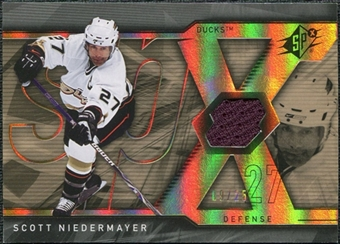 2007/08 Upper Deck SPx Spectrum #3 Scott Niedermayer Jersey /25