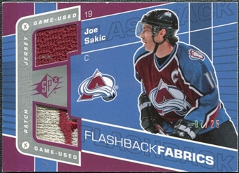 2007/08 Upper Deck SPx Spectrum #112 Joe Sakic Jersey /25
