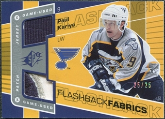 2007/08 Upper Deck SPx Spectrum #119 Paul Kariya Jersey /25