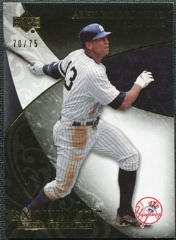 2007 Upper Deck Exquisite Collection Rookie Signatures Gold #2 Alex Rodriguez /75