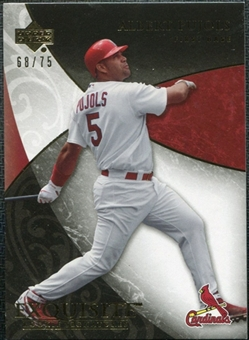2007 Upper Deck Exquisite Collection Rookie Signatures Gold #19 Albert Pujols /75