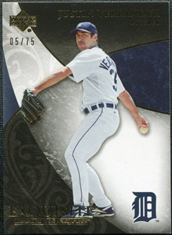 2007 Upper Deck Exquisite Collection Rookie Signatures Gold #37 Justin Verlander /75