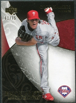 2007 Upper Deck Exquisite Collection Rookie Signatures Gold #44 Cole Hamels /75