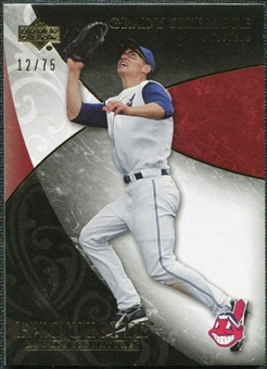 2007 Upper Deck Exquisite Collection Rookie Signatures Gold #46 Grady Sizemore /75