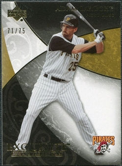 2007 Upper Deck Exquisite Collection Rookie Signatures Gold #76 Adam LaRoche /75