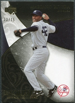 2007 Upper Deck Exquisite Collection Rookie Signatures Gold #87 Mariano Rivera /75