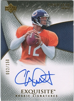2007 Upper Deck Exquisite Collection #68 Chris Leak RC Autograph /150