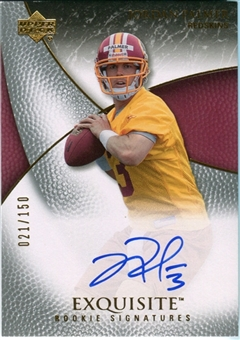 2007 Upper Deck Exquisite Collection #85 Jordan Palmer Autograph /150