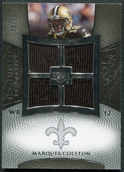2007 Upper Deck Exquisite Collection Maximum Jersey Silver #CO Marques Colston /75