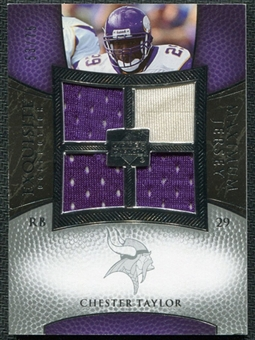 2007 Upper Deck Exquisite Collection Maximum Jersey Silver #CT Chester Taylor /75