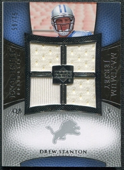 2007 Upper Deck Exquisite Collection Maximum Jersey Silver #DS Drew Stanton /75
