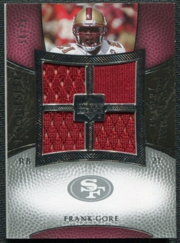 2007 Upper Deck Exquisite Collection Maximum Jersey Silver #FG Frank Gore /75