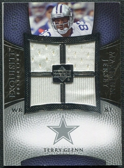 2007 Upper Deck Exquisite Collection Maximum Jersey Silver #GL Terry Glenn /75