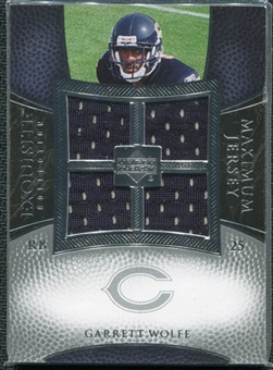 2007 Upper Deck Exquisite Collection Maximum Jersey Silver #GW Garrett Wolfe /75