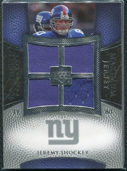 2007 Upper Deck Exquisite Collection Maximum Jersey Silver #JS Jeremy Shockey /75