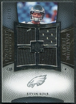 2007 Upper Deck Exquisite Collection Maximum Jersey Silver #KK Kevin Kolb /75