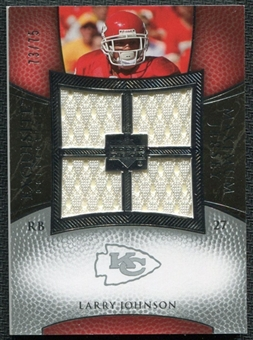 2007 Upper Deck Exquisite Collection Maximum Jersey Silver #LJ Larry Johnson /75