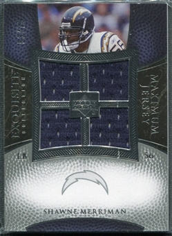 2007 Upper Deck Exquisite Collection Maximum Jersey Silver #ME Shawne Merriman /75