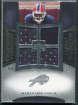 2007 Upper Deck Exquisite Collection Maximum Jersey Silver #ML Marshawn Lynch /75