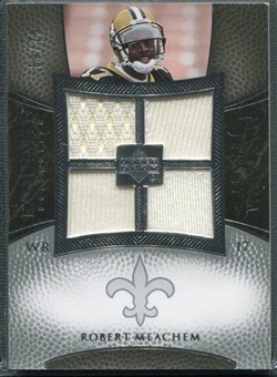 2007 Upper Deck Exquisite Collection Maximum Jersey Silver #RM Robert Meachem /75