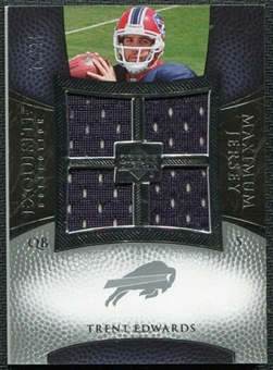 2007 Upper Deck Exquisite Collection Maximum Jersey Silver #TE Trent Edwards /75