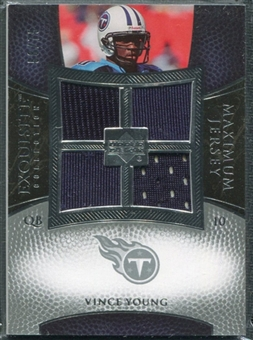 2007 Upper Deck Exquisite Collection Maximum Jersey Silver #VY Vince Young /75