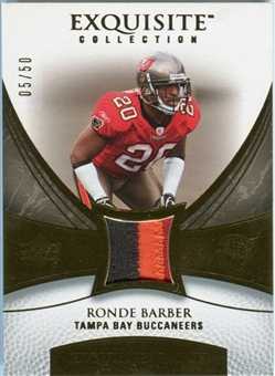 2007 Upper Deck Exquisite Collection Patch Gold #BA Ronde Barber /50