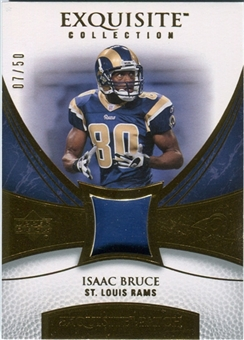 2007 Upper Deck Exquisite Collection Patch Gold #BR Isaac Bruce /50