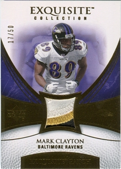 2007 Upper Deck Exquisite Collection Patch Gold #CL Mark Clayton 17/50