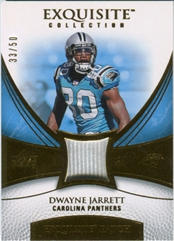 2007 Upper Deck Exquisite Collection Patch Gold #DJ Dwayne Jarrett /50