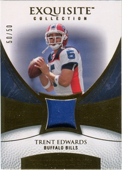 2007 Upper Deck Exquisite Collection Patch Gold #ED Trent Edwards /50