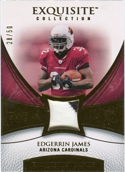 2007 Upper Deck Exquisite Collection Patch Gold #EJ Edgerrin James /50
