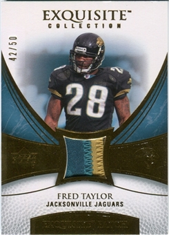 2007 Upper Deck Exquisite Collection Patch Gold #FT Fred Taylor /50