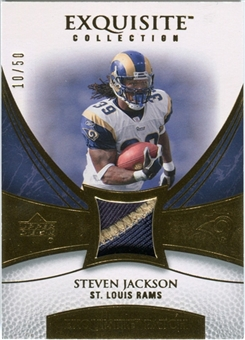 2007 Upper Deck Exquisite Collection Patch Gold #JA Steven Jackson /50